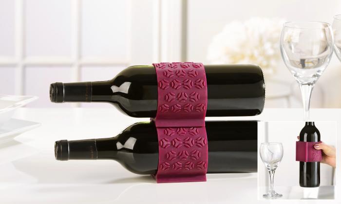Giftcraft Silcone Comfort Grip Wine Bottle Holder