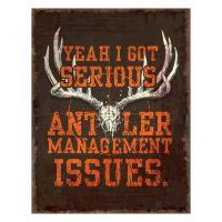 Heavy Metal Antler Management Sign