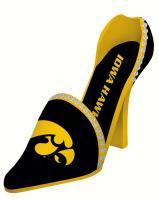 Evergreen Enterprises Iowa Hawkeyes Decorative Team Shoe Wine Bottle Holder