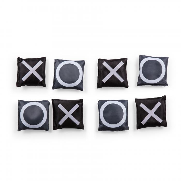Picnic Time Mini Bean Bag Throw (Wood Grain with Bean Bag Toss and Tic-Tac-Toe Designs)