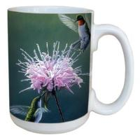 Tree Free Greetings Hummingbird Treat Mug 15 oz
