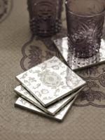 Zodax Mirrored Coasters / Baroque Design