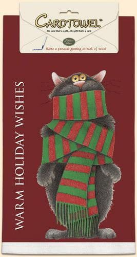 Fiddler's Elbow Warm Holiday Wishes Towel