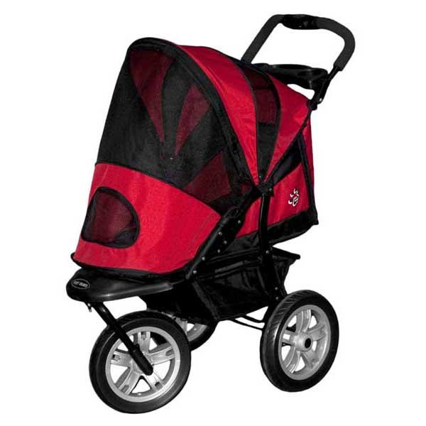 "Pet Gear AT3 Generation 2 All-Terrain Pet Stroller Red Poppy 30"" x 13.5"" x 22"""