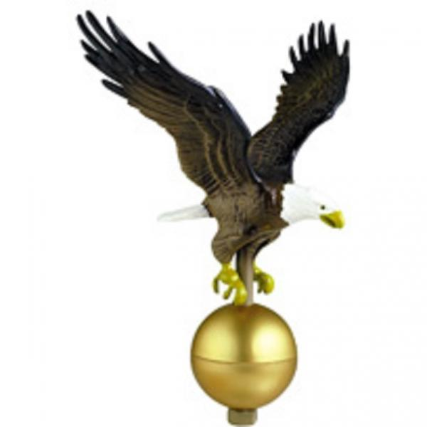Medium Flagpole Eagle - Gold Bronze