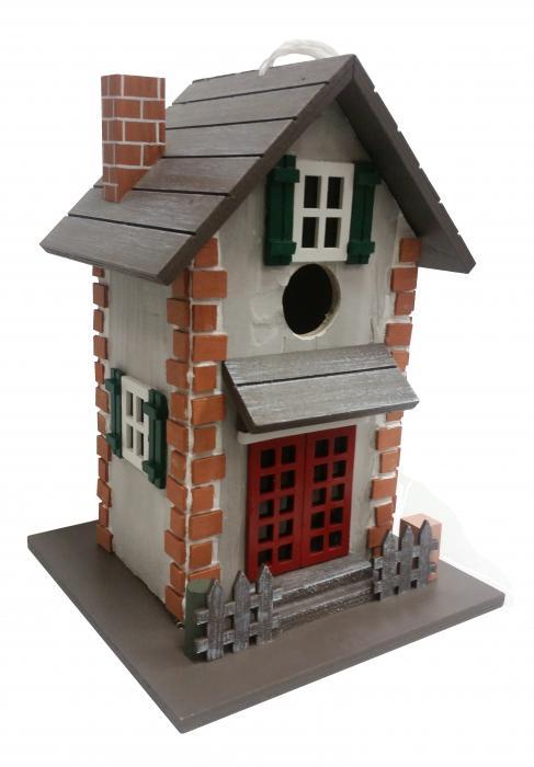 Home Bazaar Grove Street Cottage Birdhouse