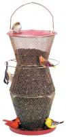 No-No Feeder Red & Brass 3 Tier Super Bird Feeder