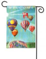 Magnet Works Hot Air Balloon Garden Flag