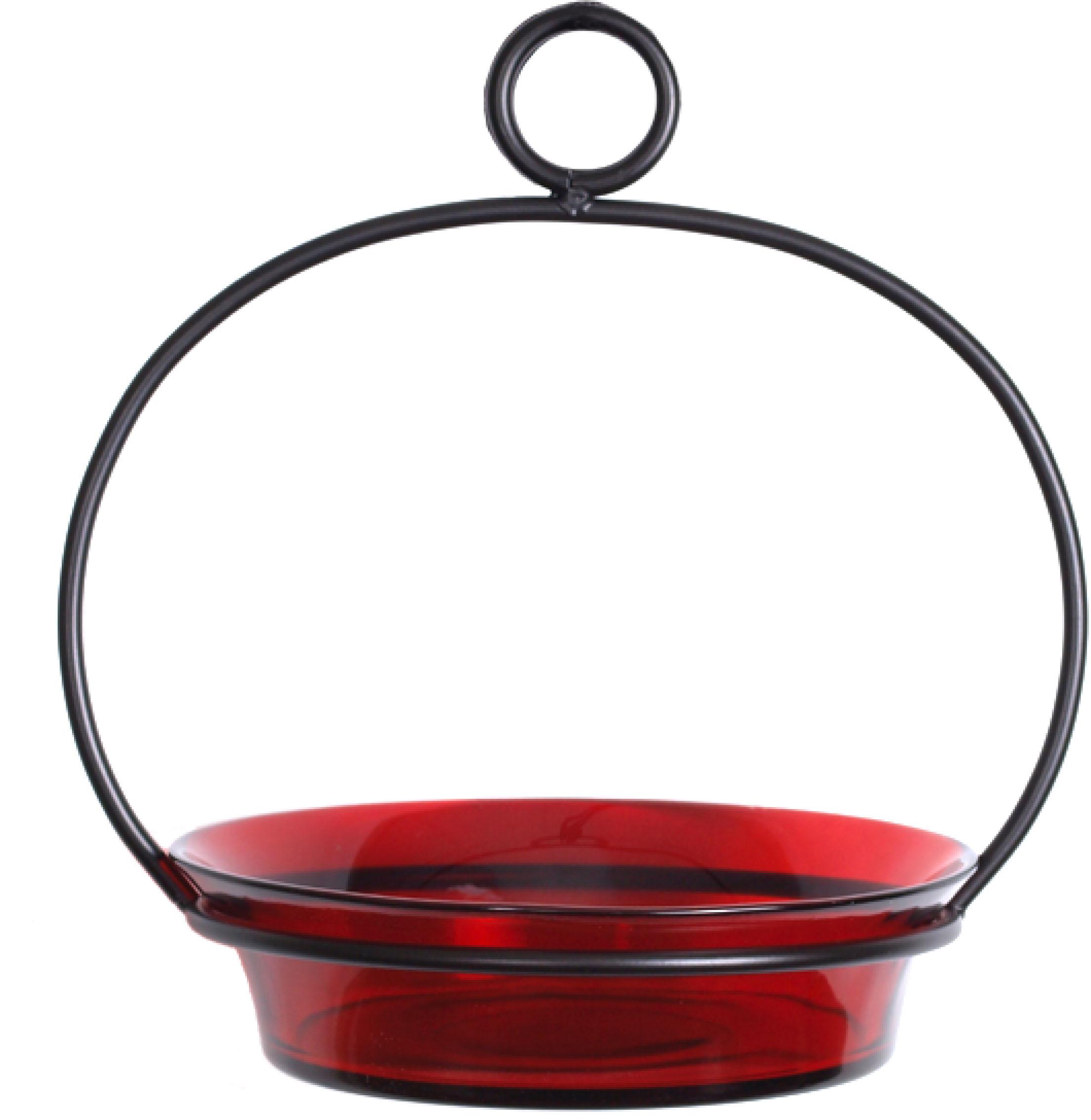 Couronne Company Red Cuban Bowl Birdbath