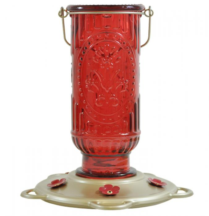 Classic Brands Red Vintage Hummingbird Bird Feeder