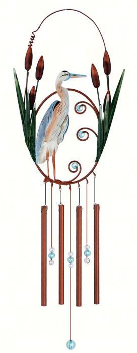 """Sunset Vista Designs Blue Heron 18"""" Garden Chime"""