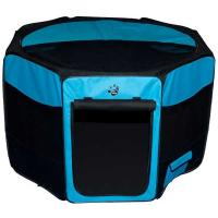 """Pet Gear Travel Lite Soft-Sided Pet Pen with Removable Top Ocean Blue 29"""" x 29"""" x 17"""""""