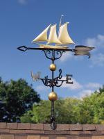 "46"" Yacht Weathervane - Gold-Bronze"