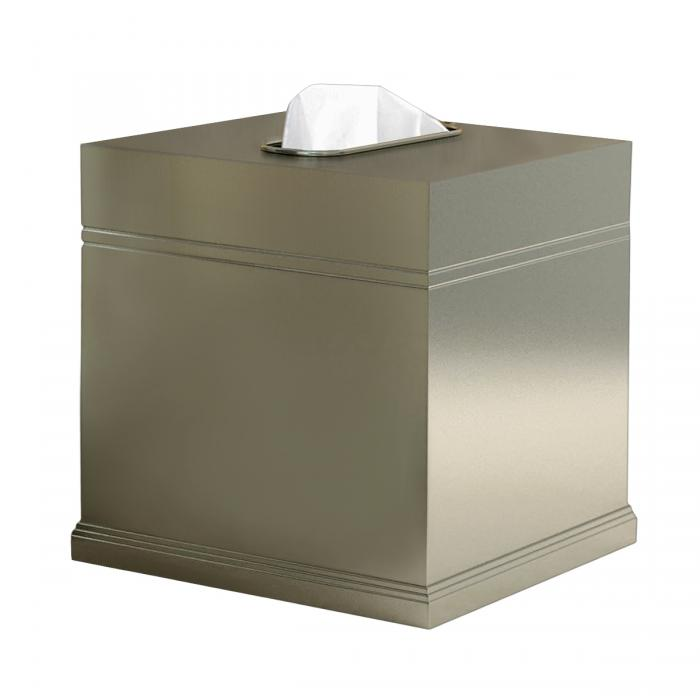 Nu Steel Dual Ridge Boutique Tissue Holder, Brushed Nickle