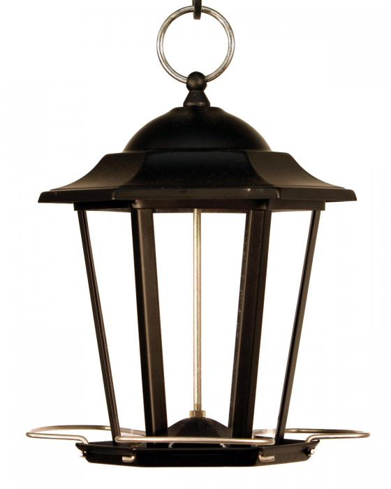 Woodlink Audubon Series Black Carriage Lantern Bird Feeder