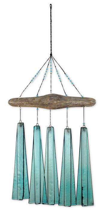 Sunset Vista Designs Turquoise Sea Glass Wind Chime