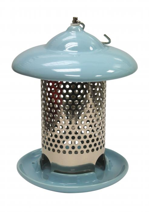 Heath Blue Ceramic Bird Feeder