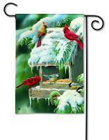 Magnet Works Winter Feeder Garden Flag