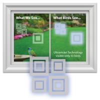 Window Alert Modern Square Decal