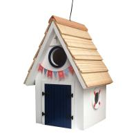 Home Bazaar Dockside Cabin Birdhouse - White