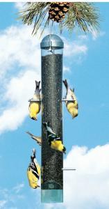 Perky Pet Deluxe Upside Down Finch Tube Bird Feeder