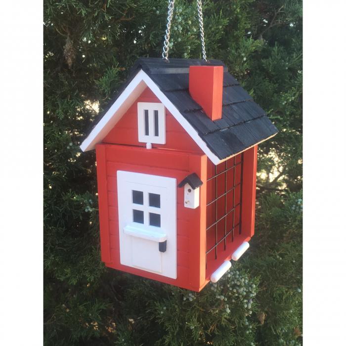 Home Bazaar Cottage Suet Feeder- Red