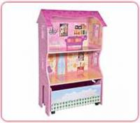 Dollhouse with Storage Trunk