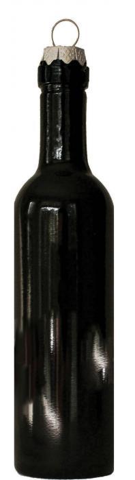 Grape Memories Bordeaux Bottle Wine Bottle Ornament with Silver Hook