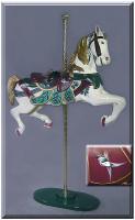 Broad Billed Jeweltone Carousel Horse
