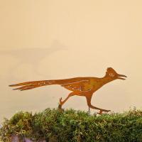 Elegant Garden Design Roadrunner Stake Bird Silhouette