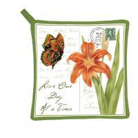 Alice's Cottage Orange Butterfly Potholder