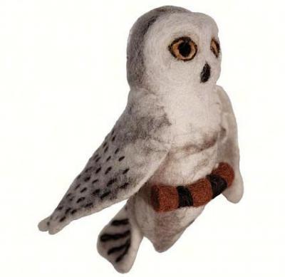 DZI Handmade Designs Snowy Owl Woolie Ornament