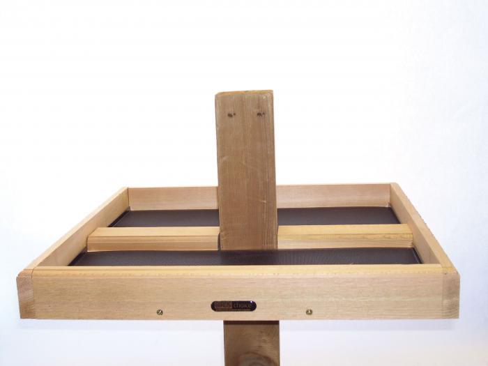 Birds Choice 4 x 4 Post-Mount Cedar Seed Catcher Platform