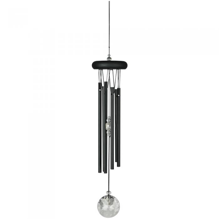 Woodstock Chimes Crystal Meditation Chime - Black