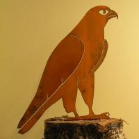 Elegant Garden Design Peregrine Falcon Bird Silhouette