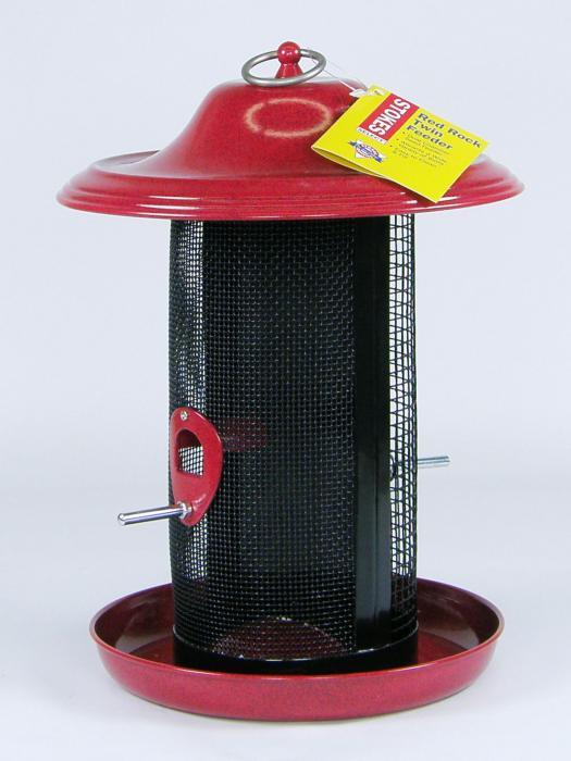 Hiatt Manufacturing Red Rock Twin Wire Seed Bird Feeder