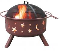 Landmann Big Sky Fire Pit with Stars & Moons - Georgia Clay Color
