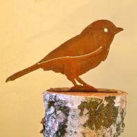 Elegant Garden Design Chickadee Bird Silhouette