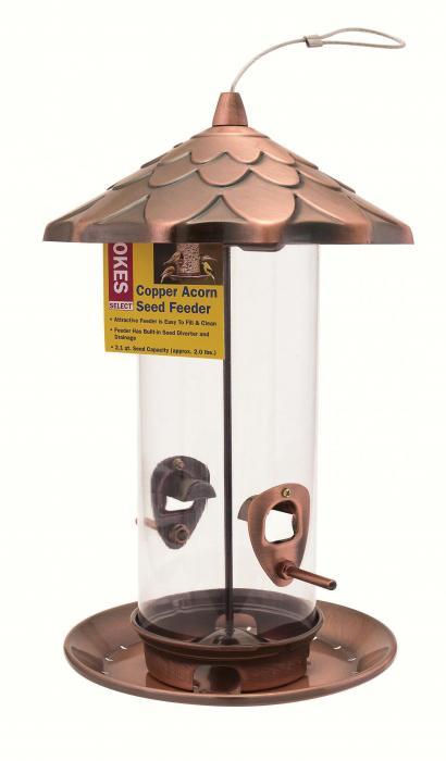 Hiatt manufacturing copper acorn feeder for Acorn feeder