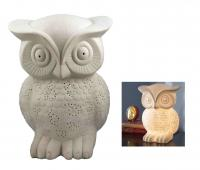 Streamline Owl Porcelain Lamp