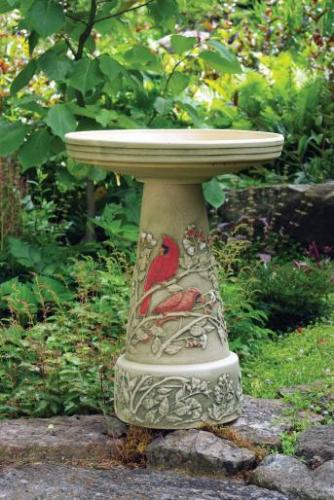 Bird's Choice Summer Cardinal Bird Bath Set