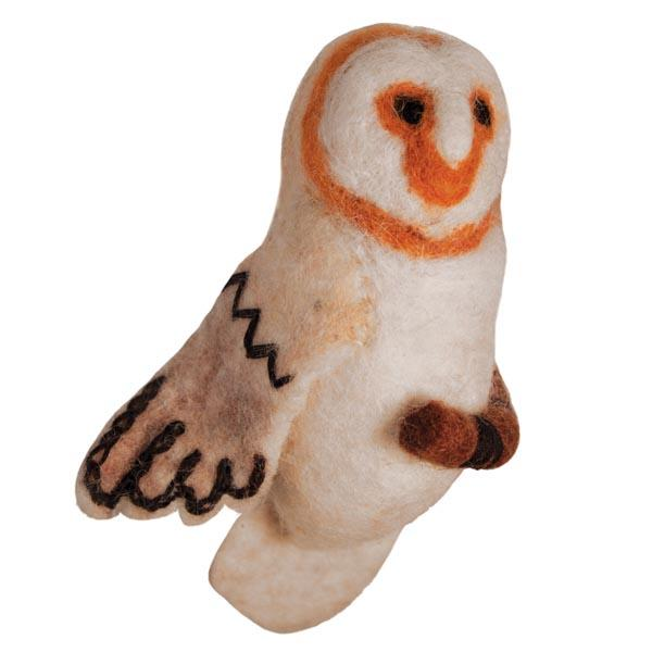 DZI Handmade Designs Barn Owl Woolie Ornament