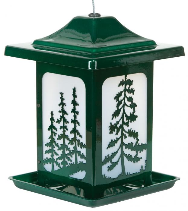 Homestead The Woodland Pines Jolly Pop Green Bird Feeder