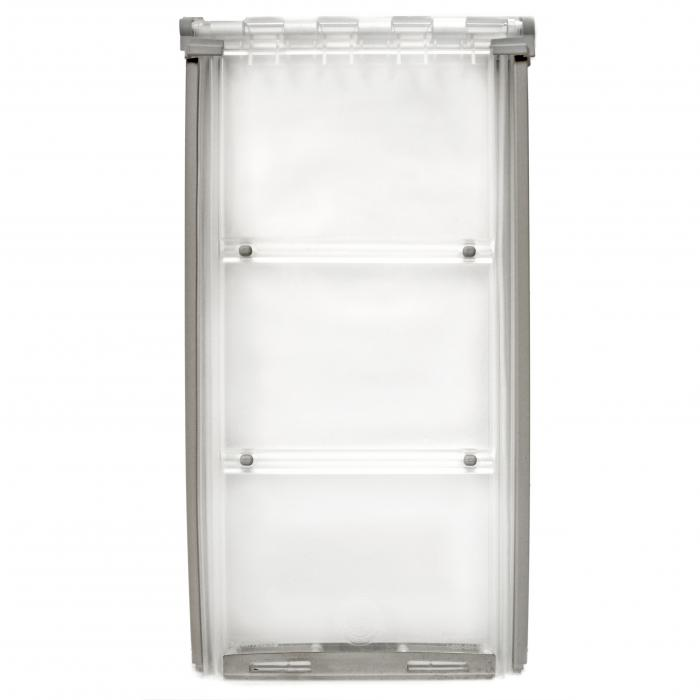 """Endura Flap Pet Door, Thermo Panel 3e, Small Flap, 6""""w x 11""""h  - 74.75-77.75"""" Tal, Silver Frame"""
