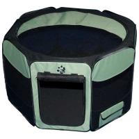 """Pet Gear Travel Lite Soft-Sided Pet Pen with Removable Top Sage 29"""" x 29"""" x 17"""""""