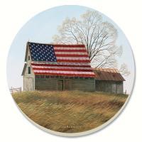 Counter Art Patriotic Barn Coasters Set of 4