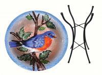 Songbird Essentials SE5010 Bluebird Birdbath w/Stand
