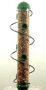 "Bird Quest 17"" Green Spiral Sunflower Bird Feeder"