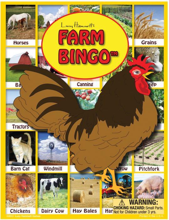 Lucy Hammett Games Farm Bingo