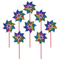 In The Breeze Rainbow Whirl Pinwheel - 8PC